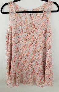 CAbi pink floral shirt size small